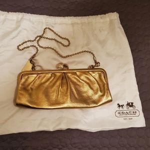 Coach Metallic Gold Clutch or Crossbody